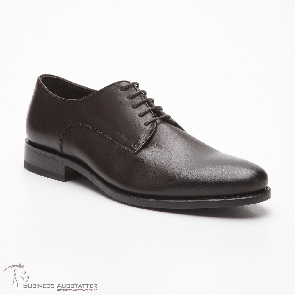 Prime Shoes Roma Rahmengenäht Dunkelbraun Box Calf Espresso Schnürsch
