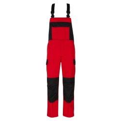 beb Premium Herren Latzhose Rot Schwarz 65 % Polyester 35...