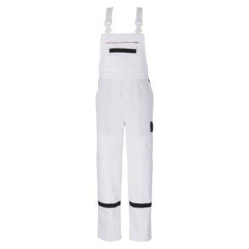 beb Comfort Herren Latzhose Weiß Marine 65 % Baumwolle 35 % Polyester