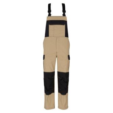 Größe 110 beb Herren Latzhose Premium Sand Schwarz 60 % Baumwolle 40 % Polyester