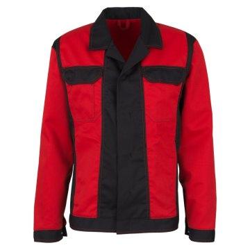 Größe 106 beb Premium Herren Bundjacke Rot Schwarz 65 % Polyester 35 % Baumwolle