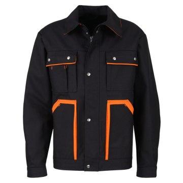 Größe 114 beb Premium Herren Bundjacke Schwarz Orange 60 % Baumwolle 40 % Polyester