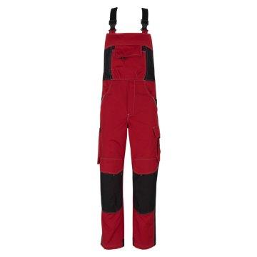 Größe 110 beb Inflame Herren Latzhose Rot Schwarz 65 % Polyester 35 % Baumwolle