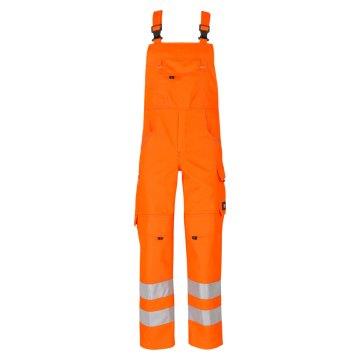 Größe 52 beb Inflame Warnschutz Herren Latzhose zertifiziert nach EN 20471 Kl. 2  Orange 50 % Baumwolle 50 % Polyester