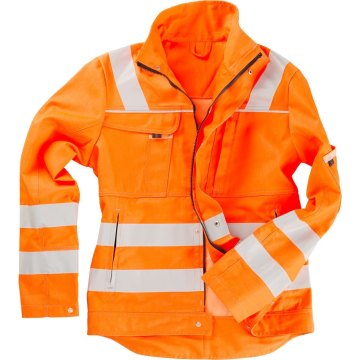 Größe S beb Inflame Warnschutz Herren Bundjacke zertifiziert nach EN 20471 Kl. 2 Orange Marine 50 % Baumwolle 50 % Polyester