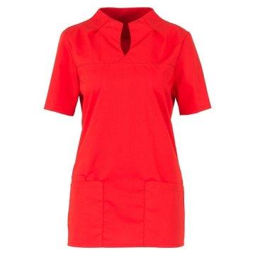 Größe XS beb Damen Kasack Kurzarm Rot 49 % Baumwolle 48 % Polyester 3 % Elastolefin