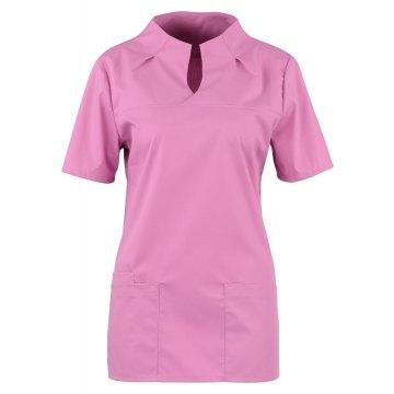 Größe XS beb Damen Kasack Kurzarm Lila 49 % Baumwolle 48 % Polyester 3 % Elastolefin