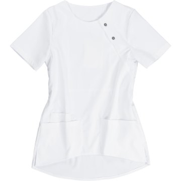 Größe L beb Damen Kasack Kurzarm Weiß 65 % Polyester 32 % Baumwolle 3 % Elastolefin