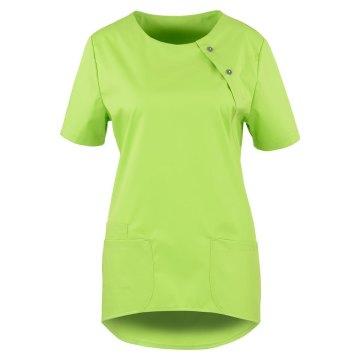 Größe S beb Damen Kasack Kurzarm Apple Grün 49 % Baumwolle 48 % Polyester 3 % Elastolefin