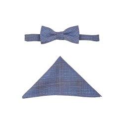Atelier Torino Vintage Wedding Schleife mit Tuch Blau Hochzeitsanzug Leinen Schurwolle Gemisch 891981/30
