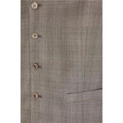 Größe 24 Atelier Torino Vintage Wedding Weste Orazio Modern Fit Braun Schurwolle Hochzeitsanzug 881971/60