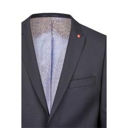 Größe 58 Atelier Torino Hotline Gala Sakko Tizian Modern Fit Blau mit leichtem Karo Webmuster Schurwolle Hochzeitsanzug 881994/30