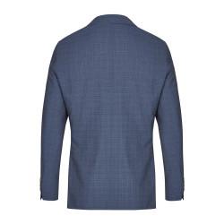Größe 54 Atelier Torino Mix & Match Sakko Valentino Modern Fit Blau mit dezentem Karo Webmuster Schurwolle Hochzeitsanzug 891713/30