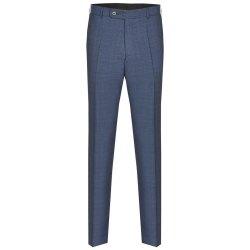 Größe 56 Atelier Torino Mix & Match Hose Aldo Modern Fit Blau mit dezentem Karo Webmuster Schurwolle Hochzeitsanzug 891713/30