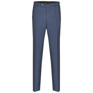 Größe 62 Atelier Torino Mix & Match Hose Aldo Modern Fit Blau mit dezentem Karo Webmuster Schurwolle Hochzeitsanzug 891713/30