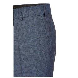 Größe 102 Atelier Torino Mix & Match Hose Aldo Modern Fit Blau mit dezentem Karo Webmuster Schurwolle Hochzeitsanzug 891713/30