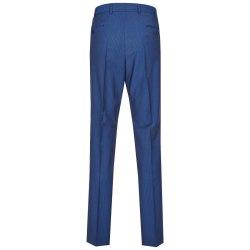 Größe 24 Atelier Torino Mix & Match Hose Aldo Modern Fit Blau dezent gestreiftes Webmuster Schurwolle Hochzeitsanzug 891814/30