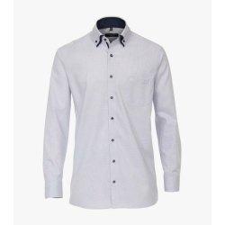 Casamoda Hemd Blau fein gemustert mit Besatz Langarm...