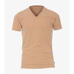Venti T-Shirt 2er Set Beige Kurzarm Tailliert Geschnitten...