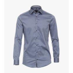 Venti Hemd Blau mit Besatz Langarm Twill Body Fit...