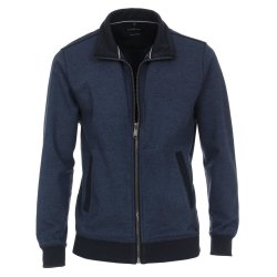 Casamoda Sweat-Cardigan Sweat-Jacke Blau 2-farbige...
