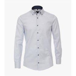 Venti Hemd Hellblau mit Besatz Langarm Modern Fit...