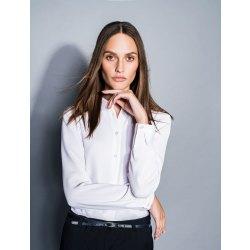 DANIEL HECHTER Damen Crêpe Bluse Langarm Essentials...