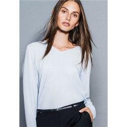 DANIEL HECHTER Damen Crêpe Shirt Langarm Essentials...