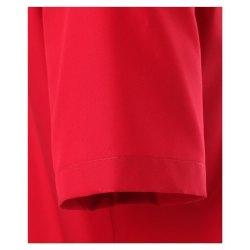 Casamoda Hemd Rot Uni Kurzarm Comfort Fit Normal Geschnitten Kentkragen 100% Baumwolle Bügelfrei