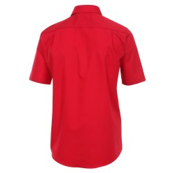 Größe 47 Casamoda Hemd Rot Uni Kurzarm Comfort Fit Normal Geschnitten Kentkragen 100% Baumwolle Bügelfrei