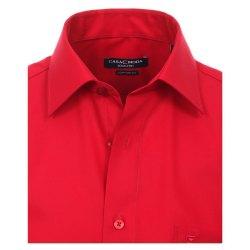 Größe 52 Casamoda Hemd Rot Uni Kurzarm Comfort Fit Normal Geschnitten Kentkragen 100% Baumwolle Bügelfrei