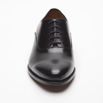 Größe D 40 UK 6 ½ Prime Shoes Basel Rahmengenäht Black Hi-Shine Schnürschuh aus feinstem Kalbsleder