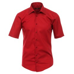 Größe 38 Venti Hemd Rot Uni Kurzarm Slim Fit...