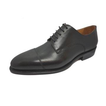 Größe D 41 UK 7 Prime Shoes Bergamo 3 Schwarz Box Calf Black Schnürschuh Rahmengenäht aus feinstem Kalbsleder
