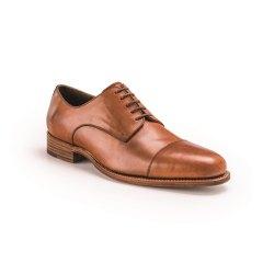 Größe D 47 UK 12 Prime Shoes Bergamo 3 Hellbraun Cognac Crust Schnürschuh Rahmengenäht aus feinstem Kalbsleder